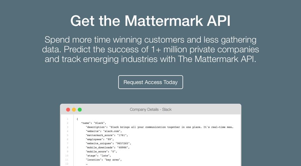 Mattermark API