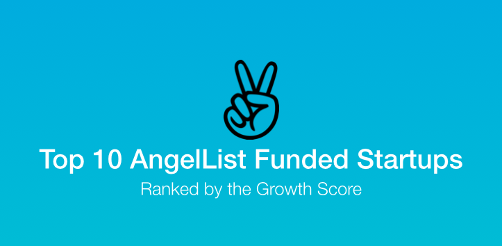 post image for Top 10 AngelList Funded Startups, Ranked by the Growth Score