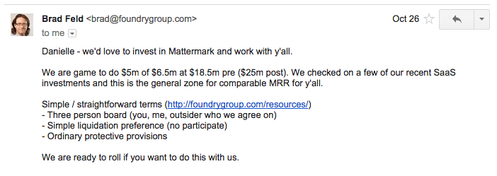post image for Reflecting on Raising Mattermark's Series A, One Year Later