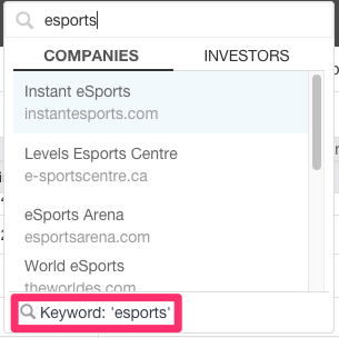 esports keyword search results2
