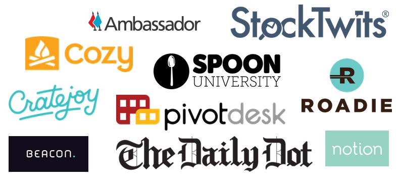 fastest growing startups logos