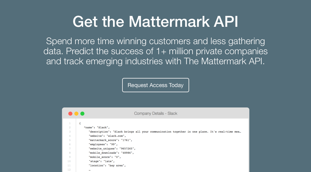 post image for Predict the Future of Private Companies with the Mattermark API
