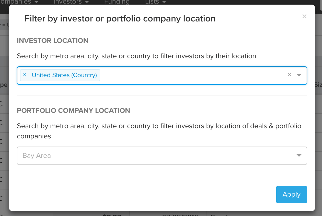 post image for Search and Filter Startup Investors Based on Geography, Funds Raised & More with Mattermark
