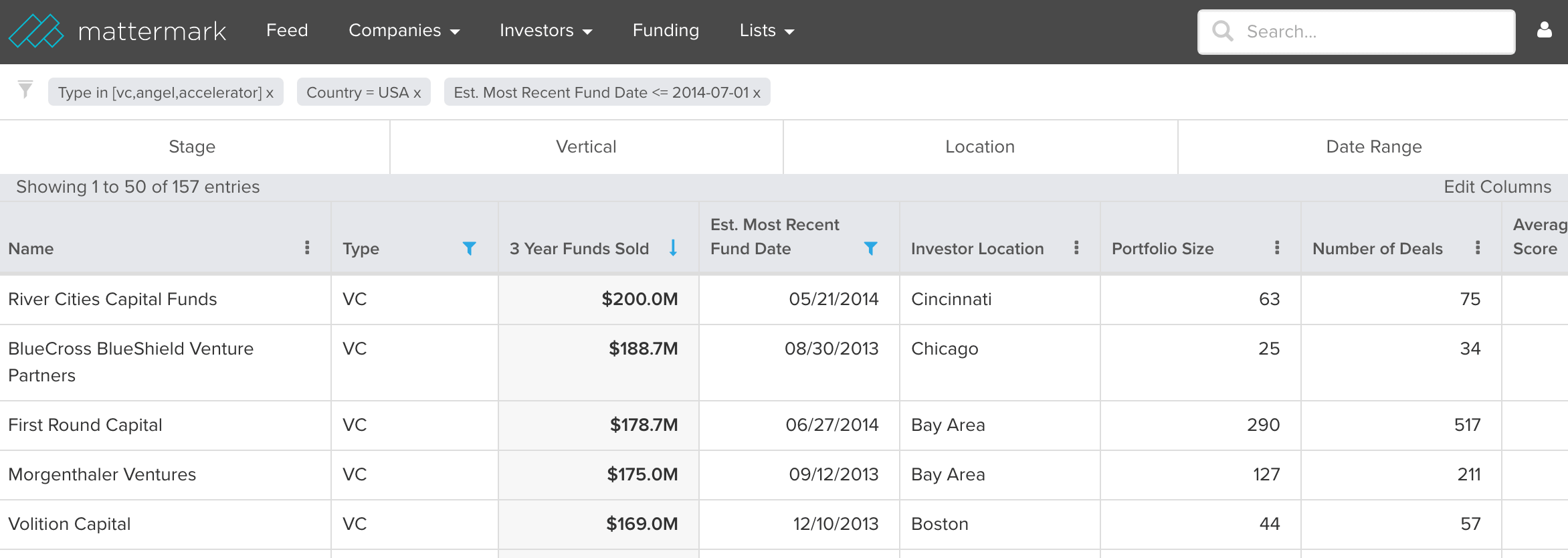 Mattermark-investor-search-results